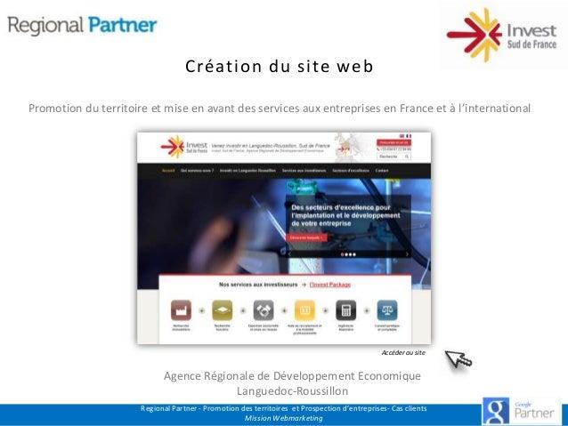 Création du site web Promotion du territoire et mise en avant des services aux entreprises en France et à l'international ...