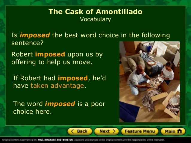 cask of amontillado essay prompts Essays and criticism on edgar allan poe's the cask of amontillado - the cask of amontillado edgar allan poe.
