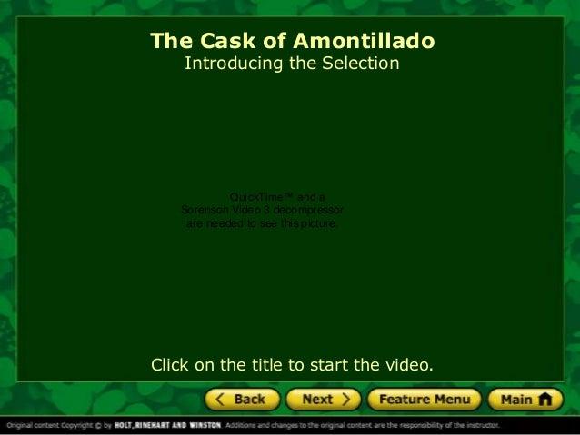 The Cask of Amontillado Summary