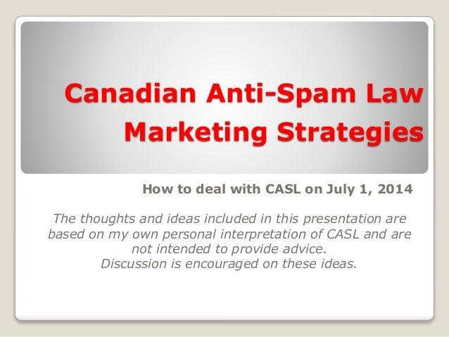 CASL   Marketing strategies