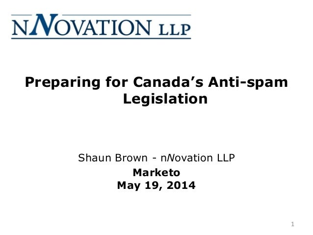 Preparing for Canada's Anti-Spam Legislation