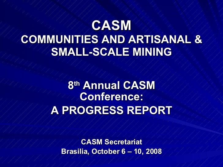 Casm  Annual Progress Report 8 Acc Brazil