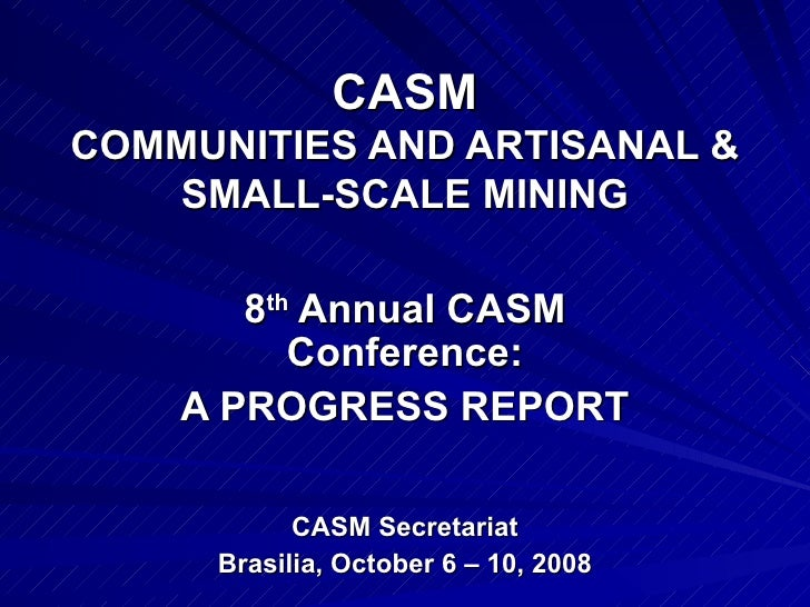 Casm  Annual Progress Report 8acc Brazil