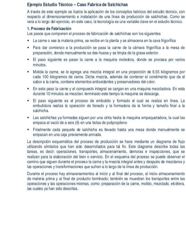 Ejemplo Estudio Técnico_Caso Fabrica de Salchichas