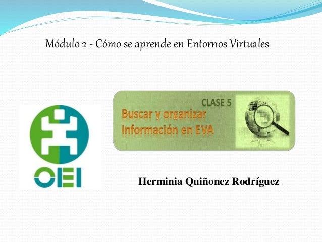 Herminia Quiñonez Rodríguez Módulo 2 - Cómo se aprende en Entornos Virtuales