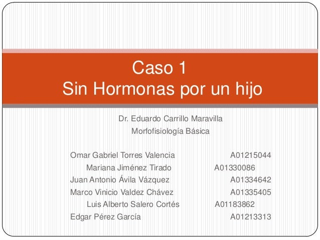 Caso 1Sin Hormonas por un hijo            Dr. Eduardo Carrillo Maravilla                Morfofisiología BásicaOmar Gabriel...
