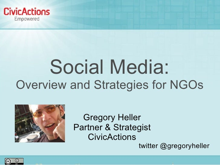 Social Media Overview and Strategy For NGOs