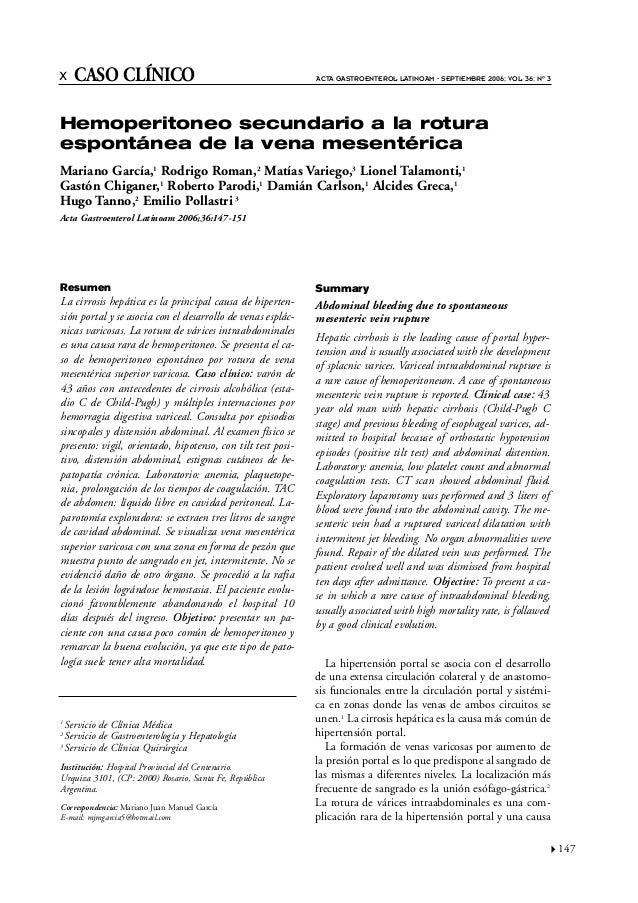 x CASO CLÍNICO                                               ACTA GASTROENTEROL LATINOAM - SEPTIEMBRE 2006; VOL 36: Nº 3He...