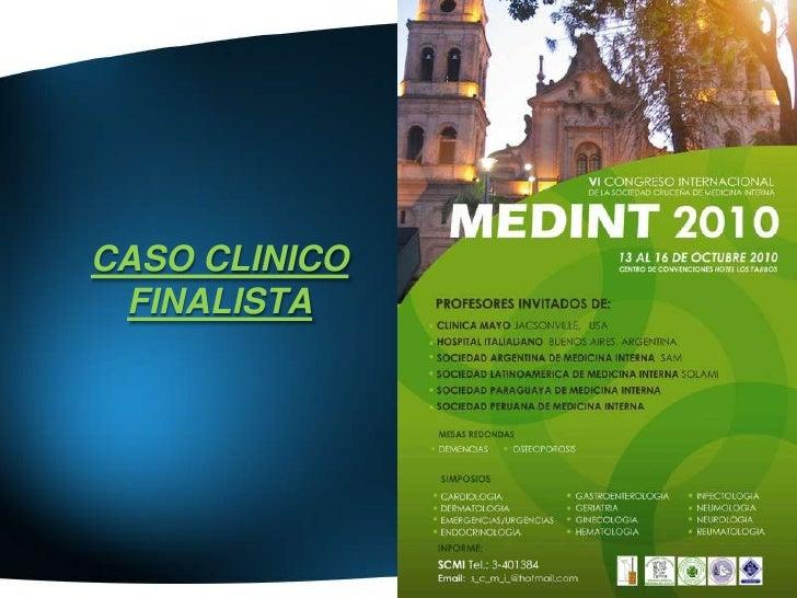 CASO CLINICO  FINALISTA