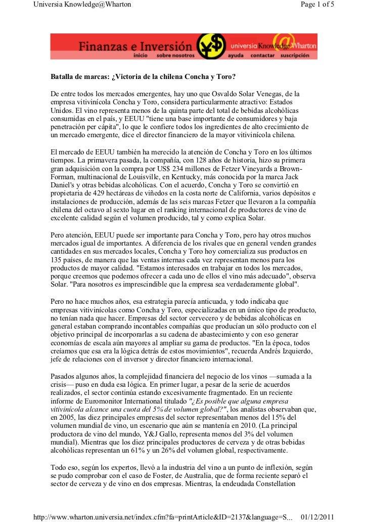 Universia Knowledge@Wharton                                                                Page 1 of 5     Batalla de marc...