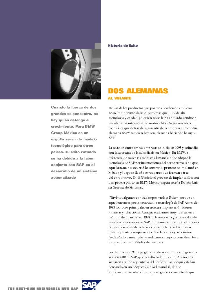 Historia de Exito                           DOS ALEMANAS                           AL VOLANTECuando la fuerza de dos    Ha...