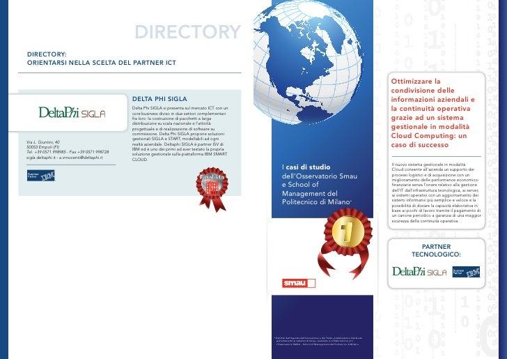 DIRECTORYDIRECTORY:ORIENTARSI NELLA SCELTA DEL PARTNER ICT                                                                ...