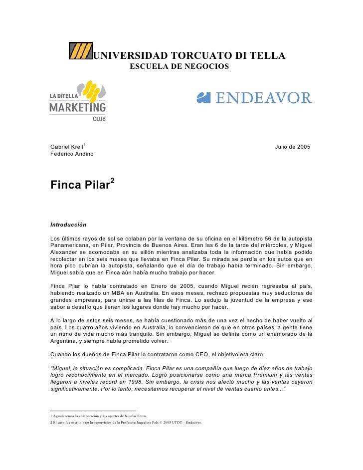 UNIVERSIDAD TORCUATO DI TELLA                                                   ESCUELA DE NEGOCIOS     Gabriel Krell1    ...