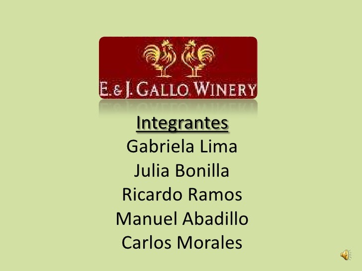 e j gallo winery swot analysis Read this essay on strategy e&j gallo wine firm analysis come browse our large digital warehouse of free sample essays get the knowledge you need in order to pass your classes and more.