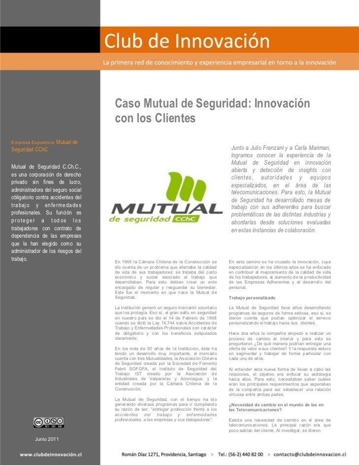 Caso mutual de seguridad, innovación con los clientes