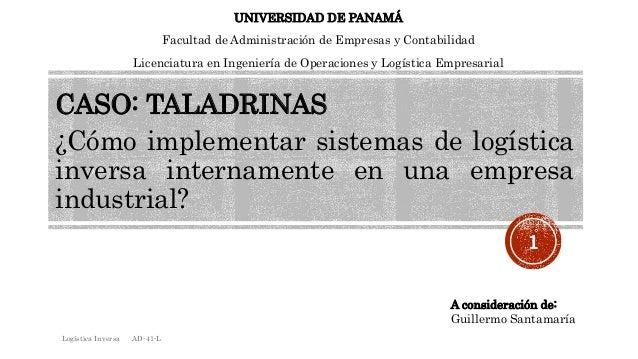 UNIVERSIDAD DE PANAMÁ  Facultad de Administración de Empresas y Contabilidad  Licenciatura en Ingeniería de Operaciones y ...
