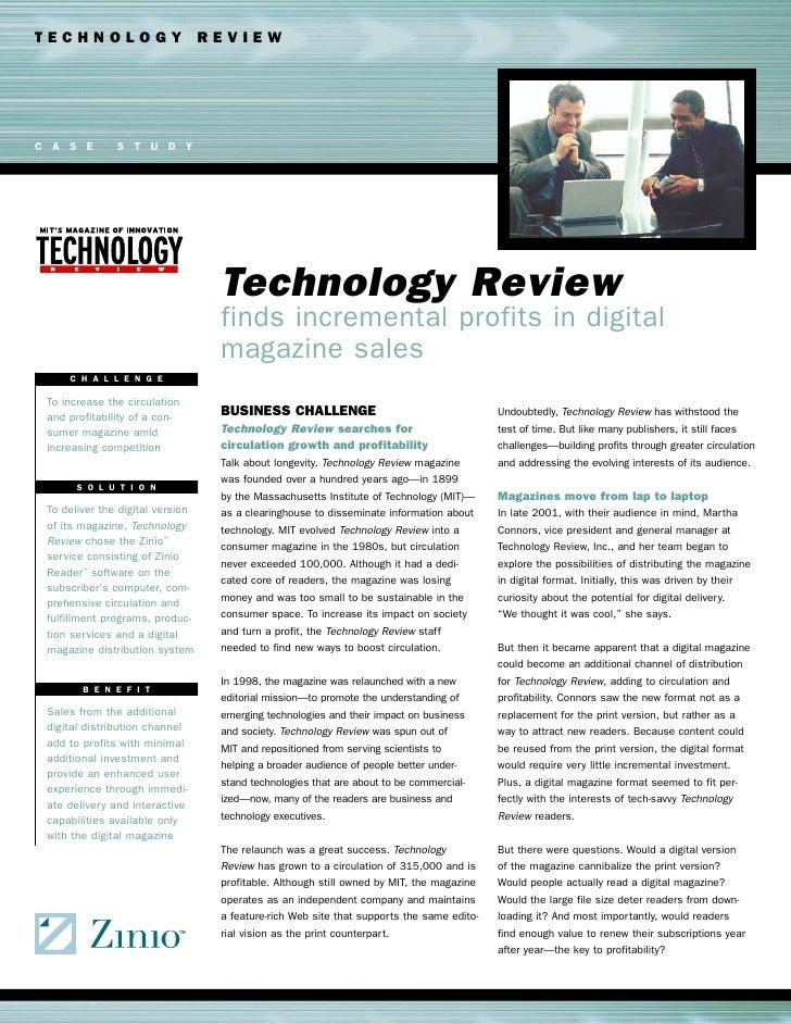 Caso zinio Technology Review