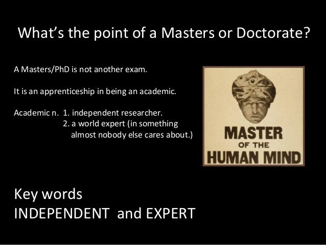 Doctorate vs masters