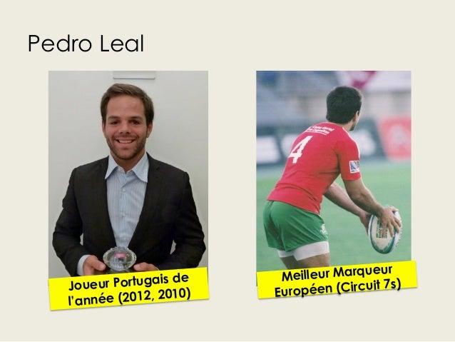 Pedro LealJoueur Portugais del'année (2012, 2010)Meilleur MarqueurEuropéen (Circuit 7s)