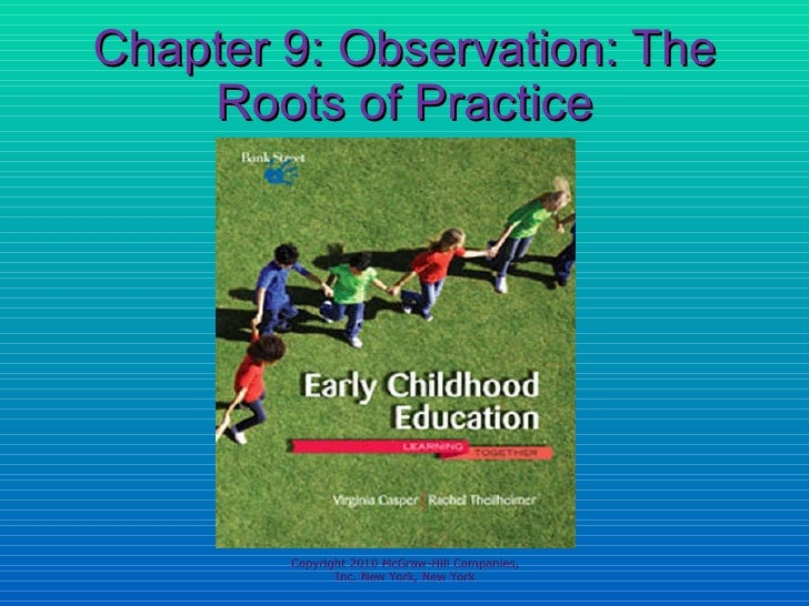 Chapter 9: Observation:  The Roots of Practice