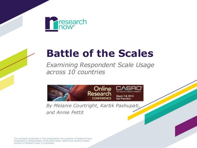 Battle of the Scales: Examining Respondent Scale Usage across 10 countries