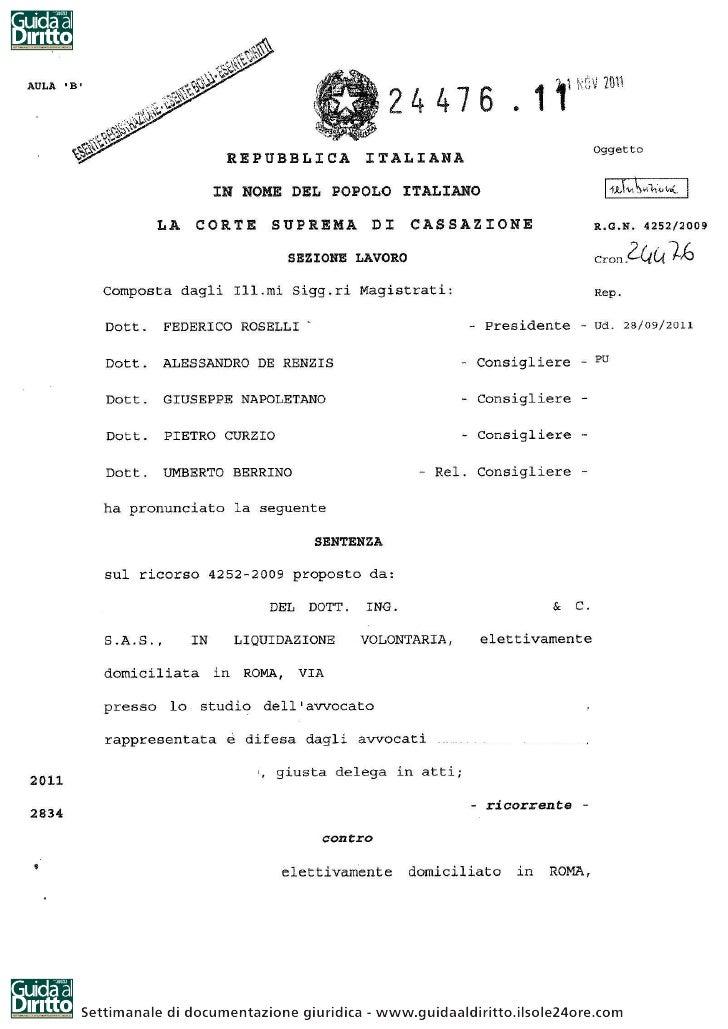 Settimanale di documentazione giuridica - www.guidaaldiritto.ilsole24ore.com