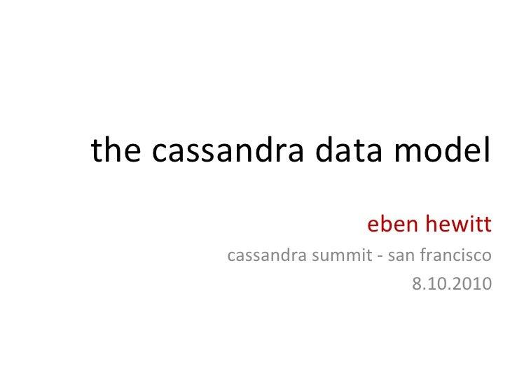 the cassandra data model eben hewitt cassandra summit - san francisco 8.10.2010