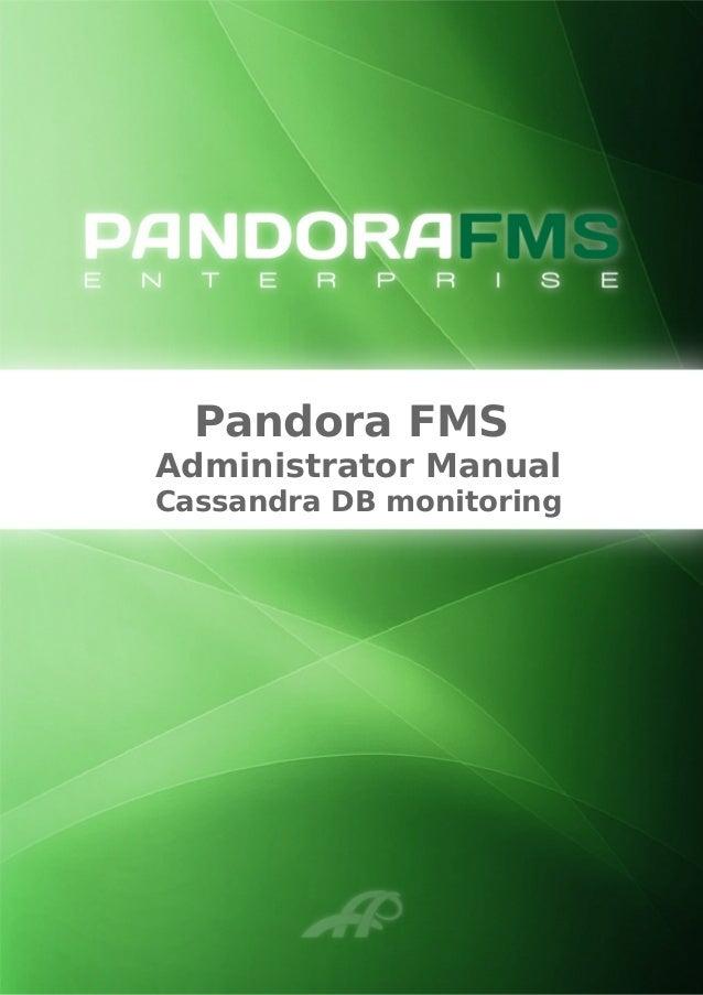Pandora FMS Administrator Manual Cassandra DB monitoring