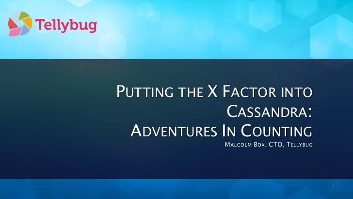 PUTTING THE X FACTOR INTO              CASSANDRA:  ADVENTURES IN COUNTING             MALCOLM BOX, CTO, TELLYBUG          ...