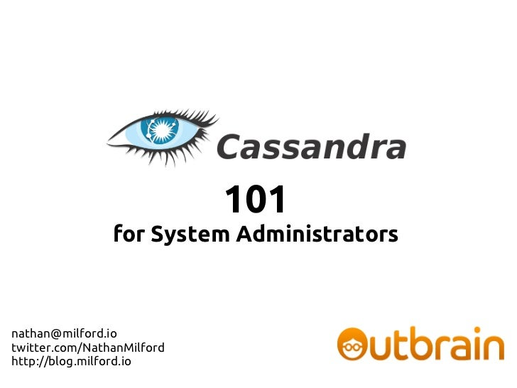 101                for System Administratorsnathan@milford.iotwitter.com/NathanMilfordhttp://blog.milford.io