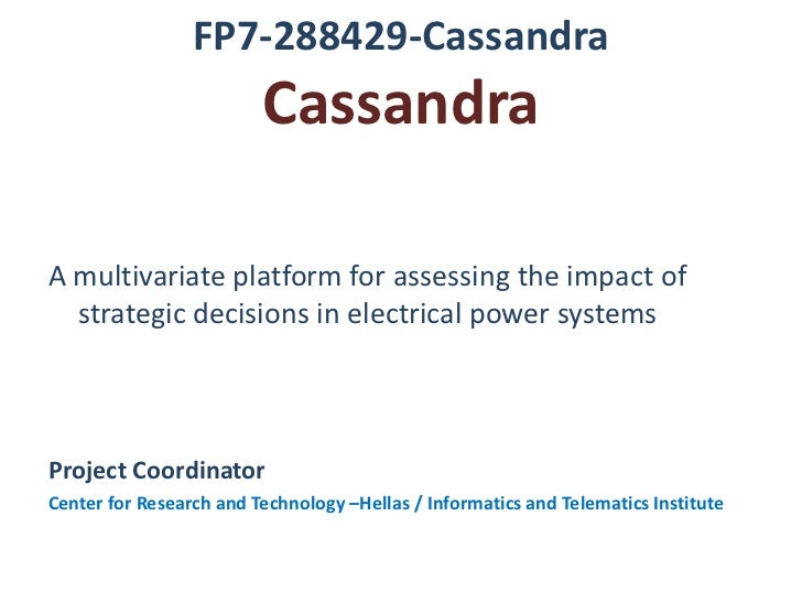 Cassandra presentation