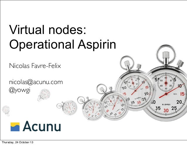 Virtual nodes: Operational Aspirin