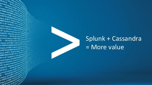 Copyright © 2012, Splunk Inc.  Listen to your data. Splunk + Cassandra = More value