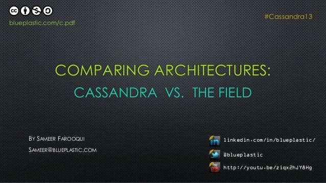 C* Summit 2013: Comparing Architectures: Cassandra vs the Field by Sameer Farooqui