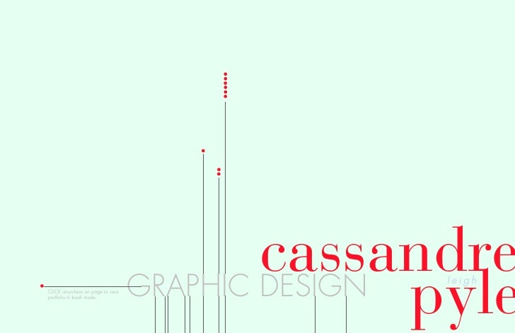 cassandre                                                 pyle                                  GRAPHIC DESIGN leigh CLICK...