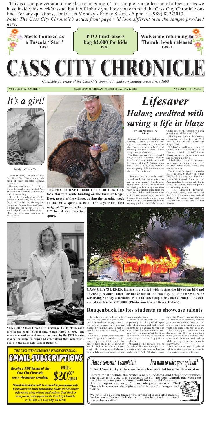 Cass City Chronicle News