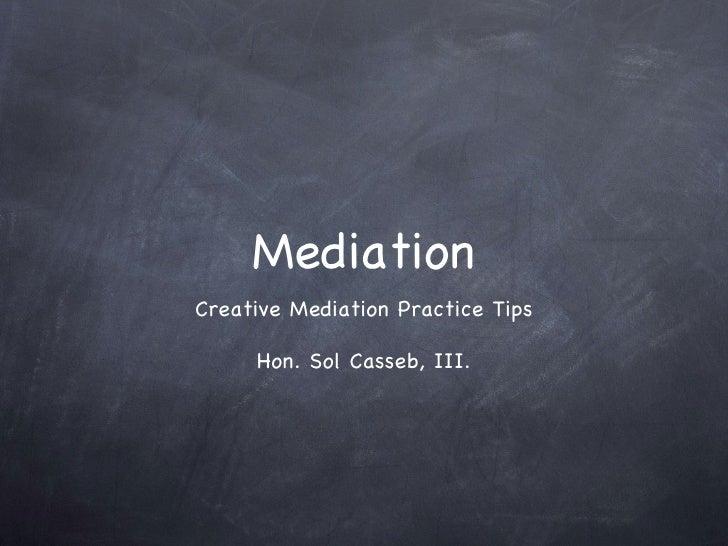 Casseb.Mediation.2.25.09