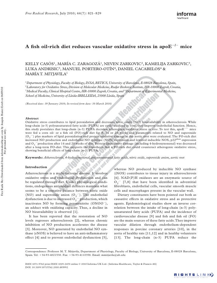 Free Radical Research, July 2010; 44(7): 821–829                                                                          ...