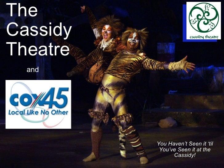 Cassidy Theatre Sponsorship
