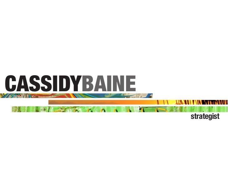 Cassidy Baine_Creative Strategy