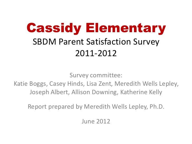Cassidy survey results 2011-12