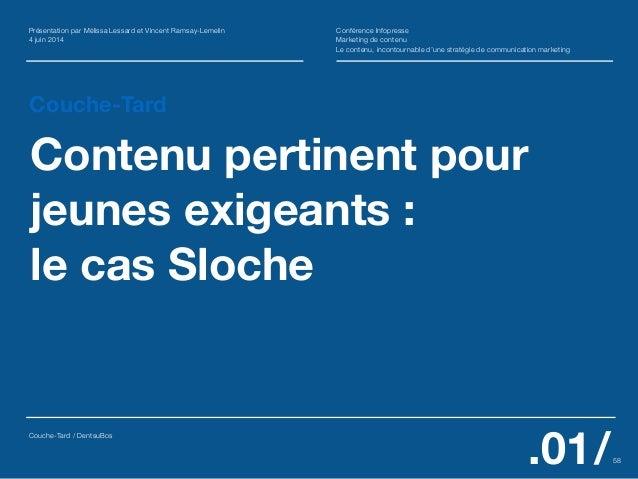 Couche-Tard Contenu pertinent pour jeunes exigeants :  le cas Sloche Présentation par Mélissa Lessard et Vincent Ramsay-L...