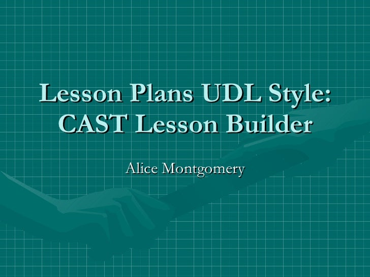 Cast Lesson Builder
