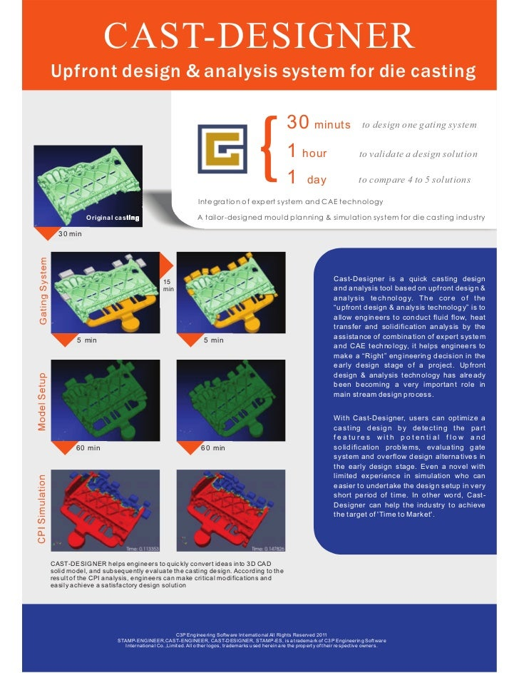 CAST-DESIGNERUpfront design & analysis system for die casting                                                             ...