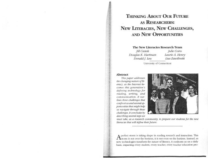 Castek Hartman Leu 2007 Future Researchers New Literacies