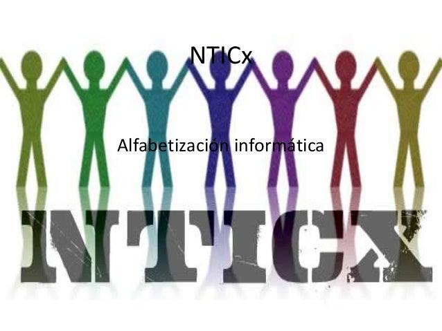 NTICx Alfabetización informática