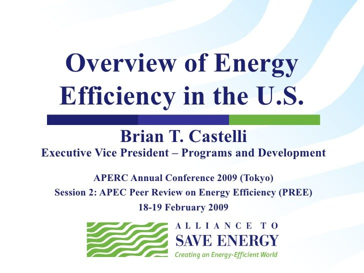 Overview of Energy Efficiency in the U.S.