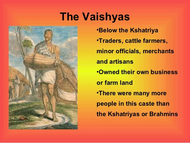 Vaisyas The Caste System of An...