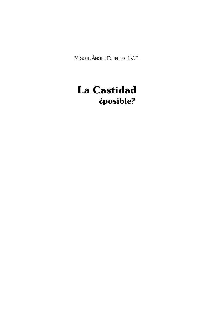 MIGUEL ÁNGEL FUENTES, I.V.E. La Castidad          ¿posible?