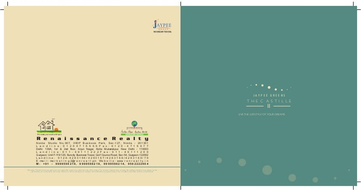 JAYPEE GREENS THE CASTILLE - II - 3BHK Luxurious Apartments in Greater Noida